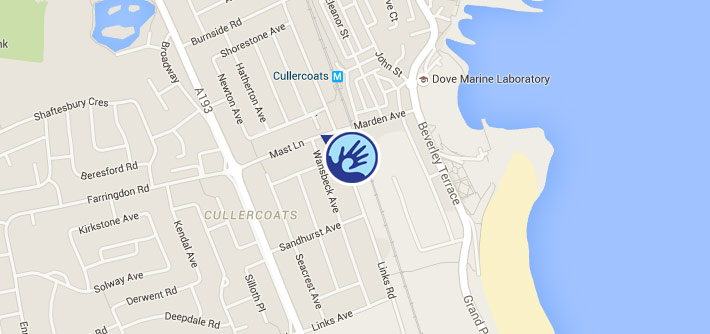 Map of Cullercoats Chiropractic